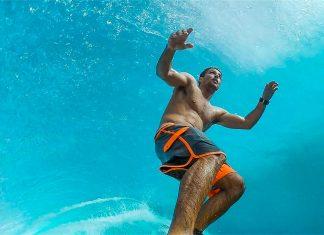 Bruno Santos in einer perfekten Fidschi-Barrel