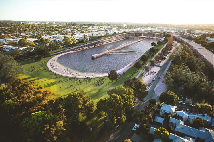 Vielleicht schon bald in Realität: ein Wagepool in Perth.