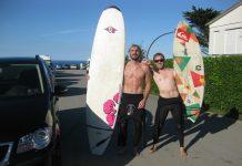 Hansi und sein Freund und Surf-Buddy Chris Danner nach einer Session in Kantabrien.