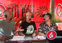 Kelly Slater kommentiert beim Fiji Pro.