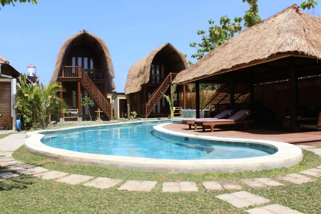 Das Kima Bali Surfcamp Berawa in all seiner Pracht.