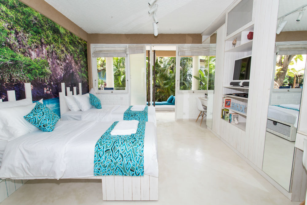 Eines der vielen Traumzimmer im Kima Surfcamp in Seminyak.