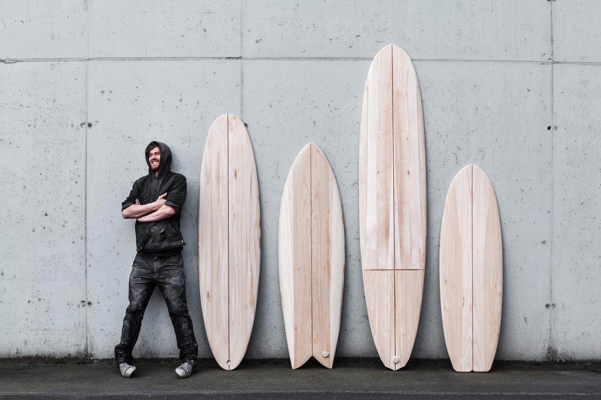 Und so sehen die fertigen Arbo Surfboards aus!