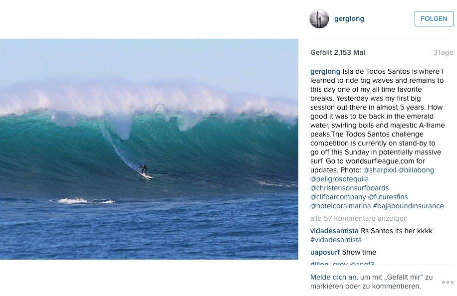 Greg Long hat sich vor drei Tagen schon einmal in Todos Santos warmgesurft...