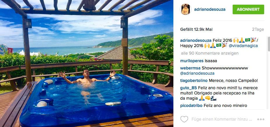 Ein Tag Entspannung ist für Adriano de Souza genug.