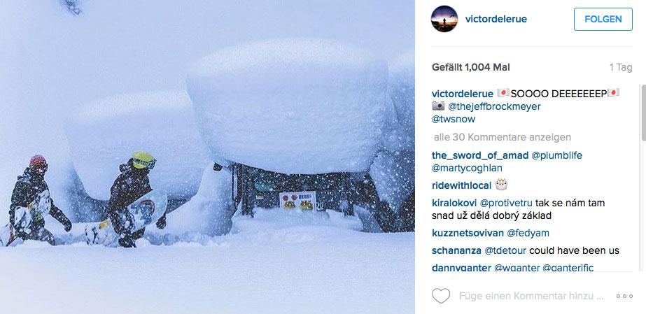 Viel Schnee? Ne, das ist ganz normal in Japan.