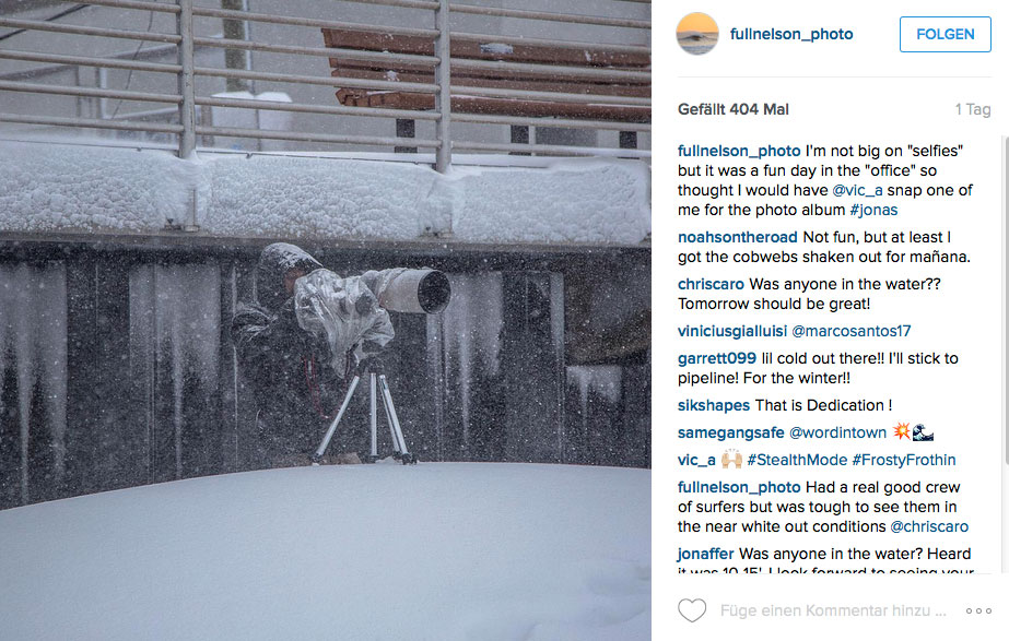 Tatsächlich waren die Bedingungen so rauh, dass selbst die Fotografen eine Art Extremsport betreiben mussten.