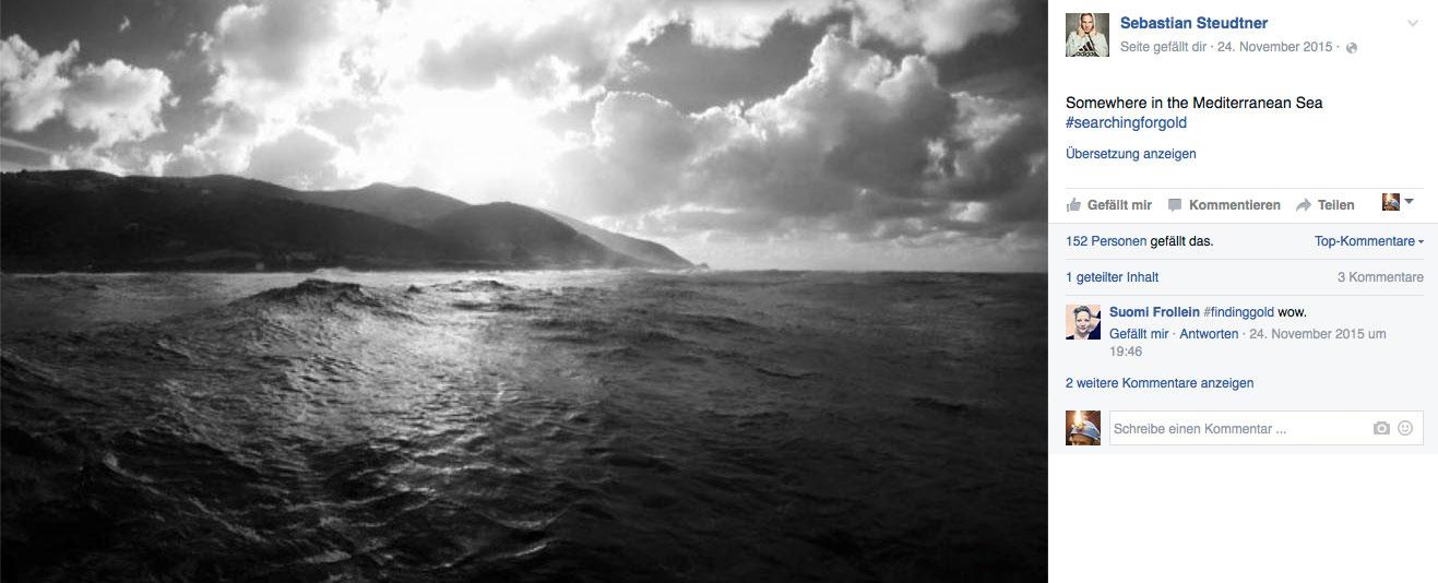 Und da gibt es dieses Bild, das Sebastian Steudtner gepostet hat und das vielleicht den selben Point vom Wasser aus zeigt.
