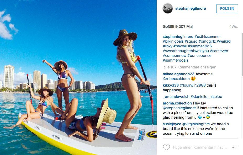 Das beste Training für deinen Surftrip - Stephanie Gilmore setzt auf Spaß beim Stand Up Paddling
