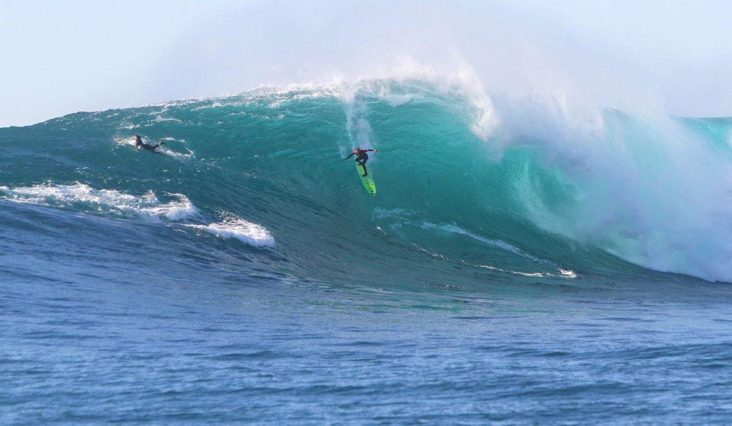 Jamie Mitchell surft sich schon einmal in Todos Santos warm.