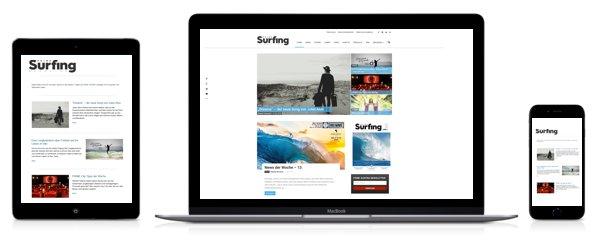 Newsletteranmeldung für Desktop, Smartphone und Tablet