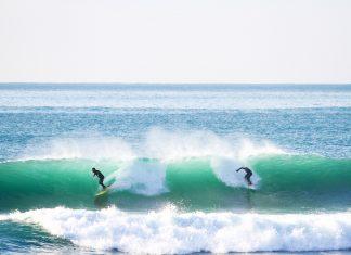 """Varazze letzte Woche – der """"place to be"""" für jeden Surfer."""