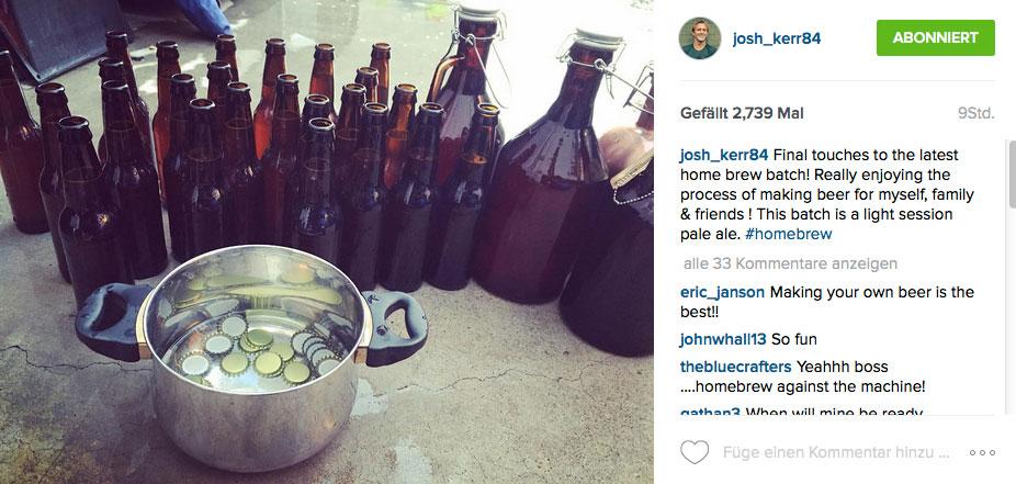 Nur Josh Kerr nicht, der versucht sich im Bierbrauen.