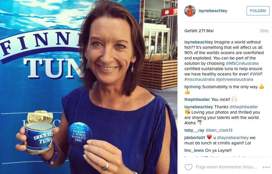 Layne Beachley macht jetzt in Tunfisch. Das ließ sie uns zumindest glauben...