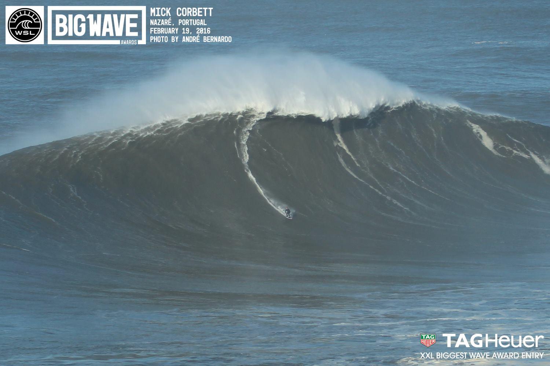 """Angeblich nur eine der """"kleineren Wellen"""" des Tages."""