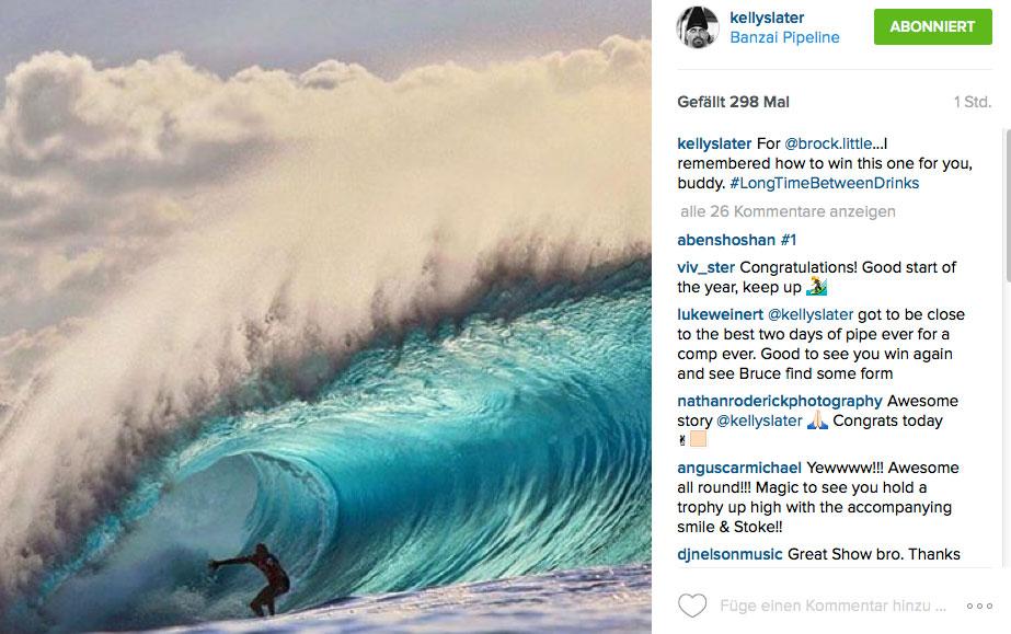 Kelly Slater und eine Pipe-Welle, wie sie nicht perfekter erschaffen werden könnte.
