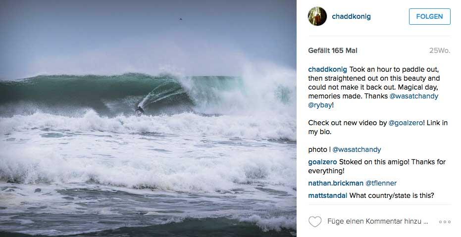 Manchmal dauert der Paddel-Out 45 Minuten und manchmal surft Chadd dann nur eine Welle. Nordkalifornien ist eben nichts für Warmduscher.