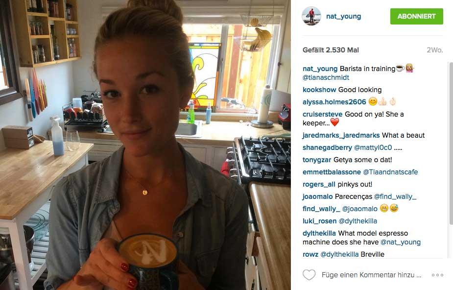 Das nur nebenbei: So bekommt Nat seinen Morgenkaffee serviert. Es geht eben nichts über das richtige Labelling.