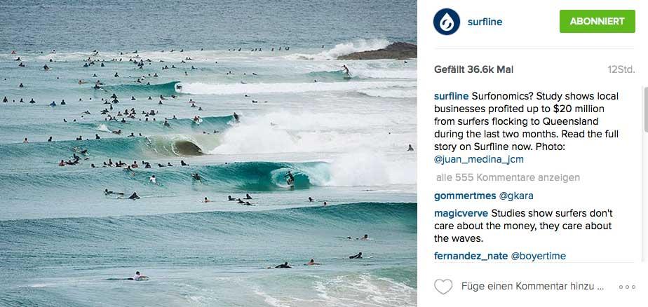 Na, wie viel Geld haben die Surfer auf diesem Foto insgesamt ausgegeben?