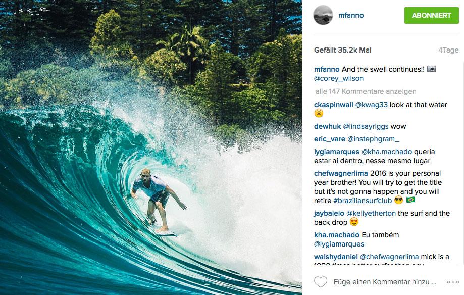 Mick Fanning, der vielleicht schnellste Surfer des Planeten. Auch dank seines fein auf ihn abgestimmten Boards.