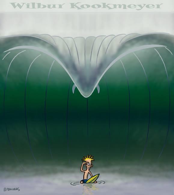Immer genau da sein, wo die Wellen brechen.