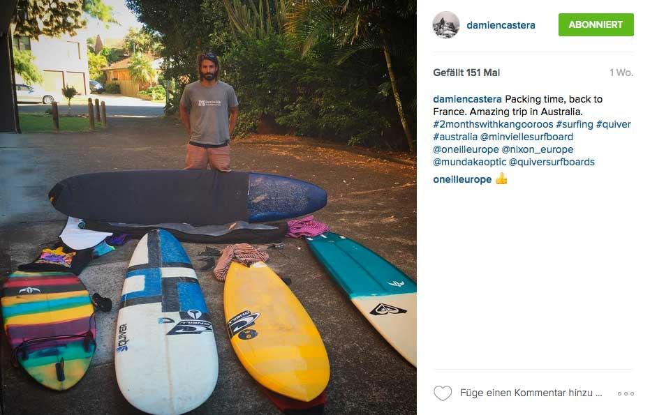Gerade war Damien in Australien. Das Übergepäck war auf dem Rückflug nach Frankreich sicher nicht ganz billig.