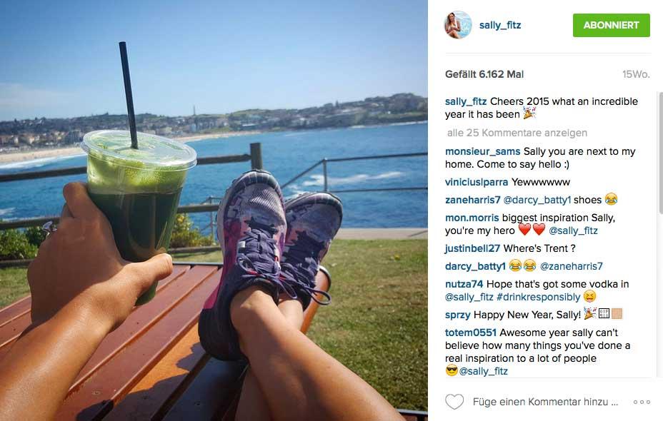 ...musst du dich ernähren, wie Sally Fitzgibbons: Grüne Smothies wären dafür ein guter Start.