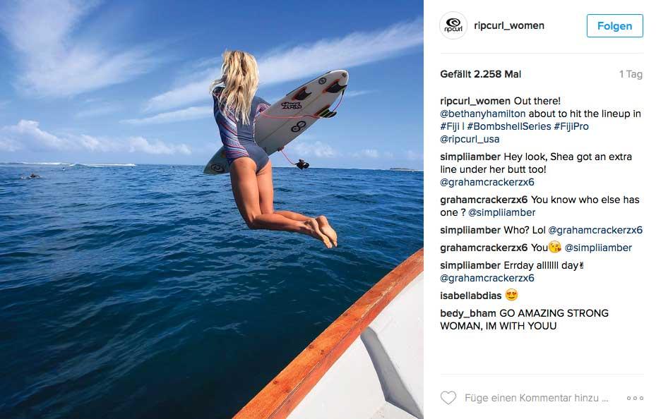 Surfen ist das eine. Aber stellt such mal vor, wie schwer es sein muss mit nur einem Arm zu paddeln oder den Takeoff zu machen.