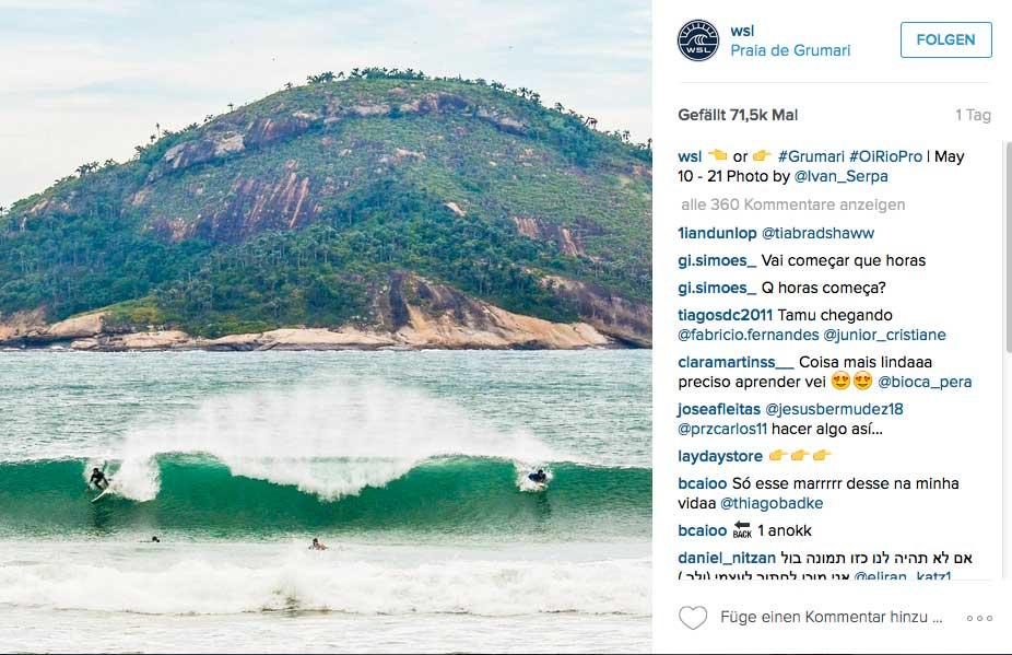 Der neue Spot in Rio. Also wir wären zufrieden mit der Welle.