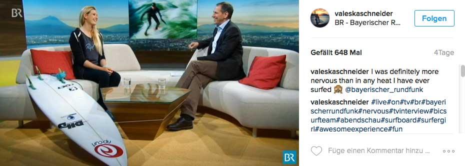 Nach dem Sieg bei den ADH kam der Ruhm: Interviewtermin im Bayrischen Fernsehen.