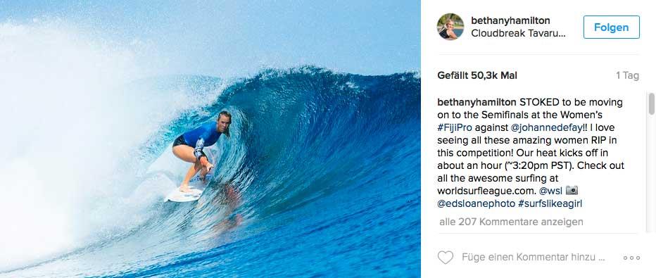 Wie in Cloudbreak deutlich zu sehen war: Je steiler die Wellen, desto besser surft Bethany.