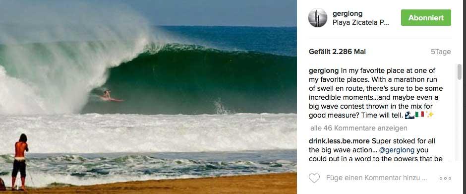 Greg Long freut sich schon auf Freitag. Er nennt Puerto Escondido seinen Lieblingsplatz.