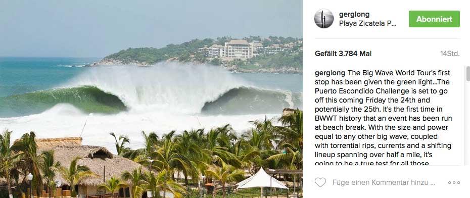 Nicht unwahrscheinlich, dass Freitagmorgen in Puerto Escondido so aussieht.