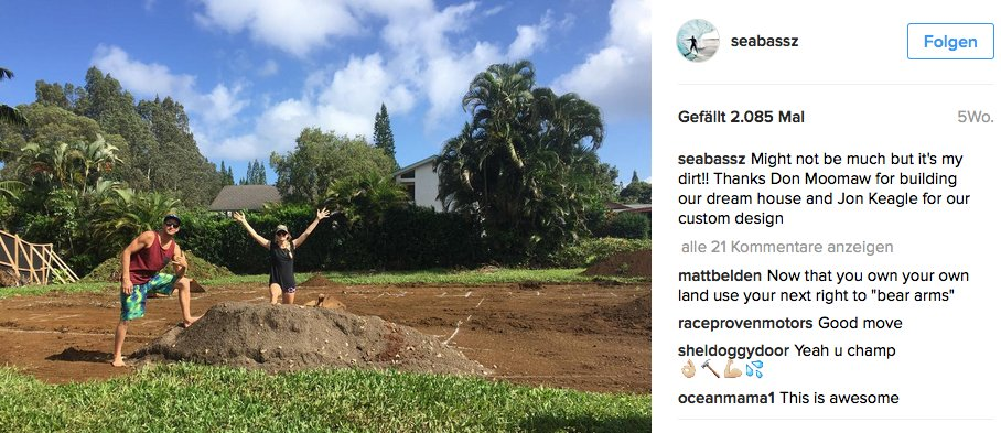 Früher wohnte er auf dem Campingplatz, heute baut Sebastian gemeinsam mit seiner Freundin ein Haus auf Hawaii.