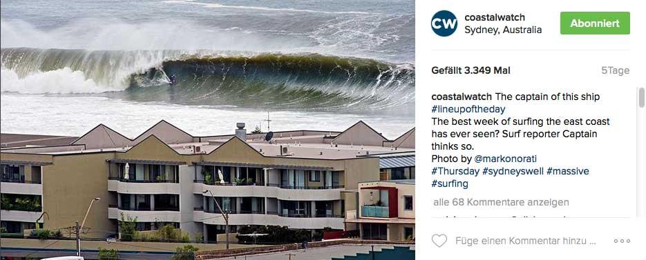 Ein Schnappschuss von der vielleicht besten Surfwoche, die die Ostküste Australiens je gesehen hat.