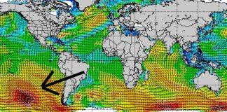 Sturm tief im Süden des Pazifiks