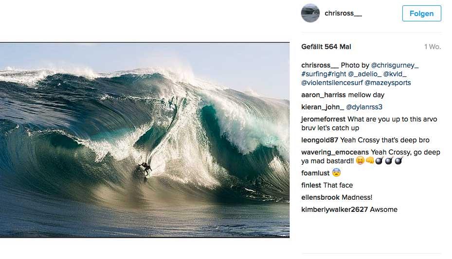 Criss Ross ist einer der Surfer, der The Right schon lange vor dem Hype surfte.
