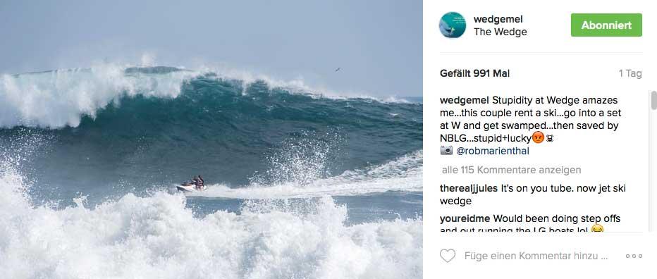 Wenn du jemals auf einem Jetski unterwegs bist und hinter dir so eine Welle siehts, dann weißt du ja jetzt, wie es weitergeht.