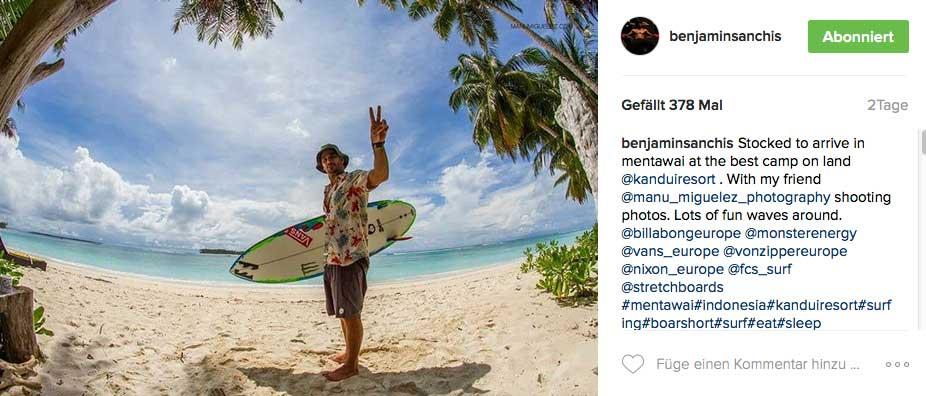 Was machen Prosurfer im Sommer? Urlaub natürlich, was auch sonst. Benjamin Sanchis hat sich die Mentawais als Ziel ausgesucht.