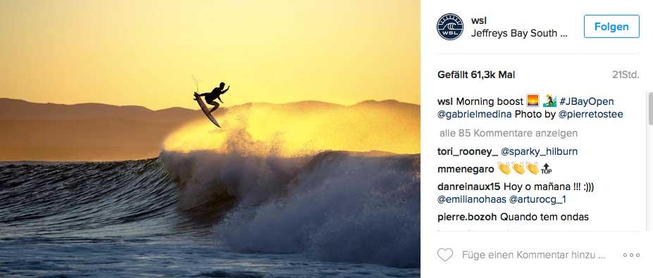 Mit etwas Glück gibt es am Samstag wieder solche Action von Gabriel Medina zu sehen.