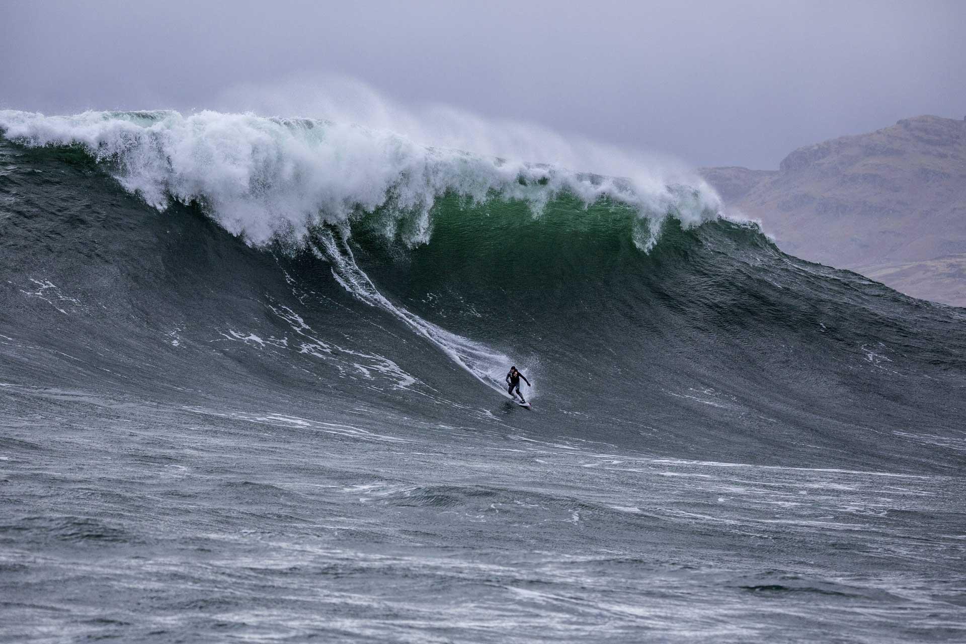 """""""Diesen Winter waren die Wellen einfach zu klein"""", lautet Andrews Fazit."""