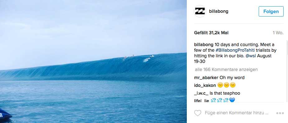 Teahupoo: Eine Welle wie ein Wasserfall.