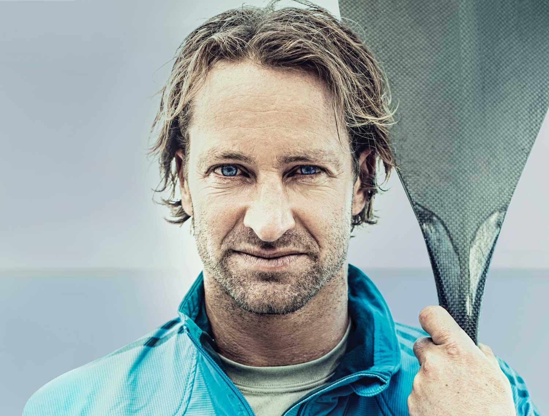 Der Mann der über den Atlantik paddeln wil: Chris Bertish.
