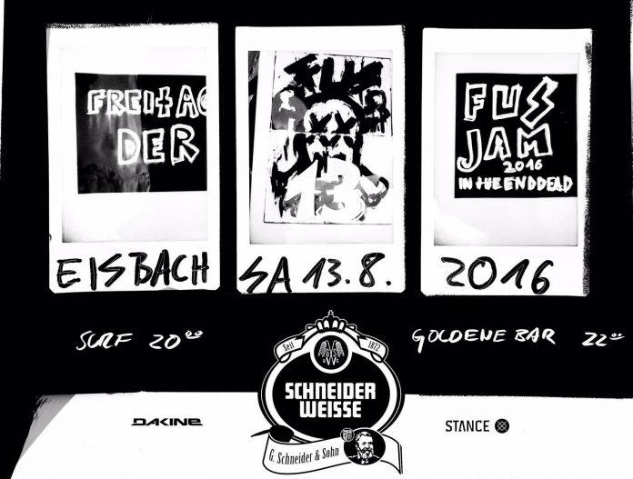 Der letzte FUS JAM aller Zeiten findet diesen Samstag am Münchner Eisbach statt.