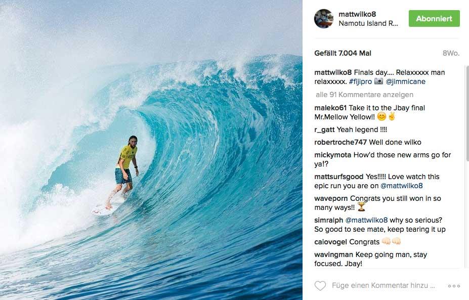 Im Mai in Fidschi konnte Matt Wilkinson wieder alle überraschen, als er plötzlich auch in der Tube aufdreht. Wird Wilko das in Tahiti wiederholen können?