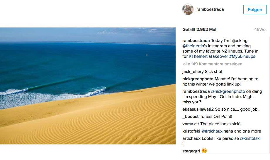 Raglan ist sicher das Surfmekka Neuseelands. Doch diese Welle liegt weit entfernt davon und läuft viel, viel länger als die berühmten Raglan-Lefthander. Leider bricht dieser Spot abr nur sehr selten.