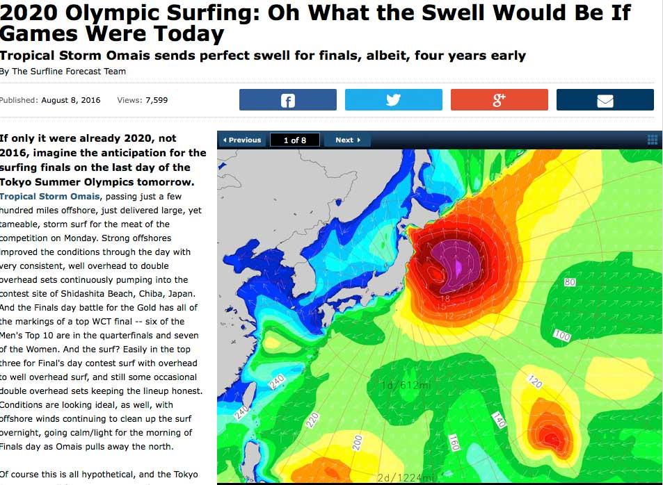 Wenn die Olympischen Spiele jetzt nicht in Rio, sondern in Japan stattfinden würden und Surfen schon olympisch wäre, ja dann wäre der Wettkampf ein voller Erfolg gewesen.