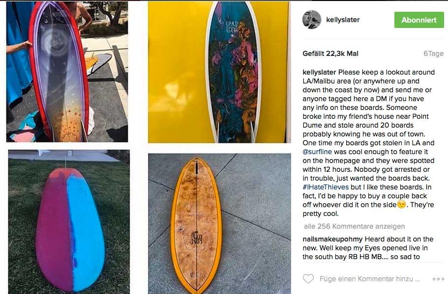 Vier der circa 15 gestohlenen Boards vom Gründungsmitglied der Beastie Boys.