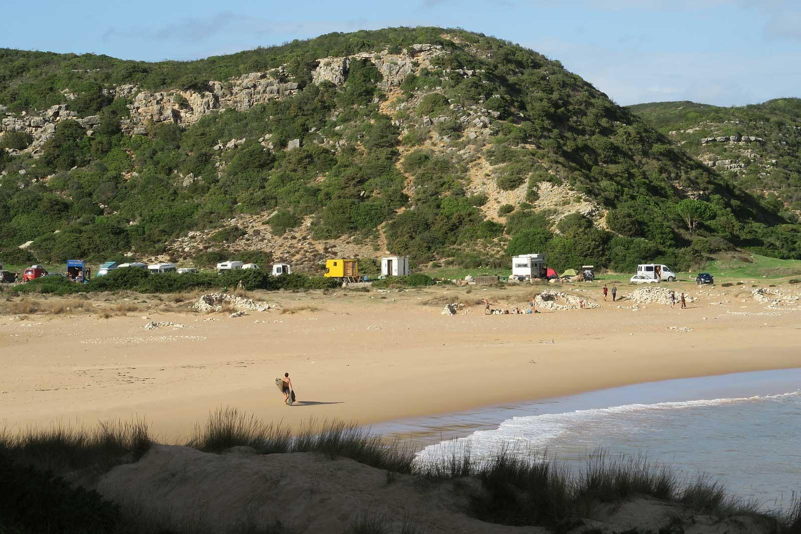 Parken in der ersten Reihe am Strand - was will man mehr?