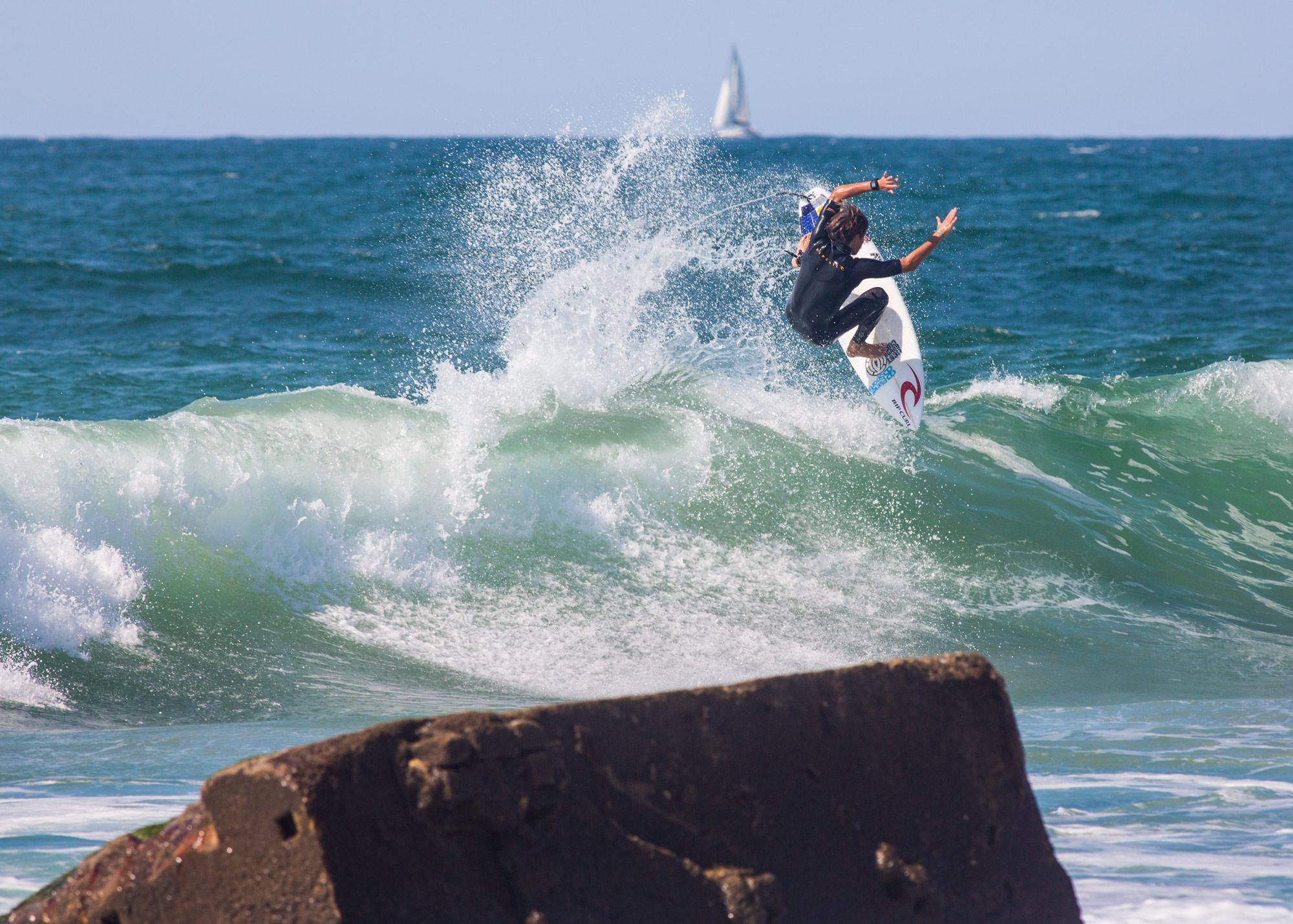 Mit seinem Powersurfing könnte Arne Bergwinkl gute Chancen auf einen erneuten Titel haben. Foto: Patrick Steiner